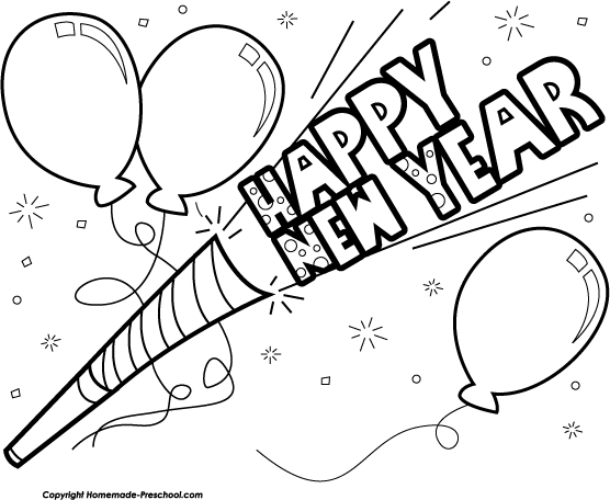 Happy New Year 2016 Clip Art Celebration Png 556 456 New Year Clipart Happy New Year 2016 Coloring Pages
