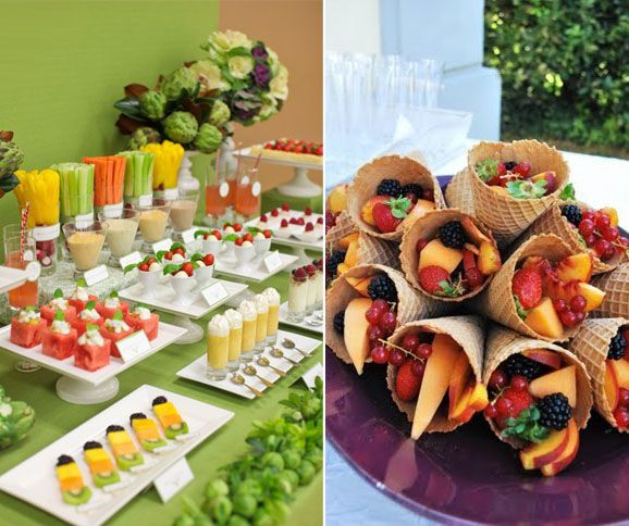 Buffets en casa buffet brunch and lunches for Decoracion de frutas para fiestas infantiles