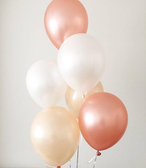 Engagement Photo Prop Peach Baby Shower Engagement Balloons Confetti Balloons Blush Wedding Decor Peach balloons Copper Wedding Decor
