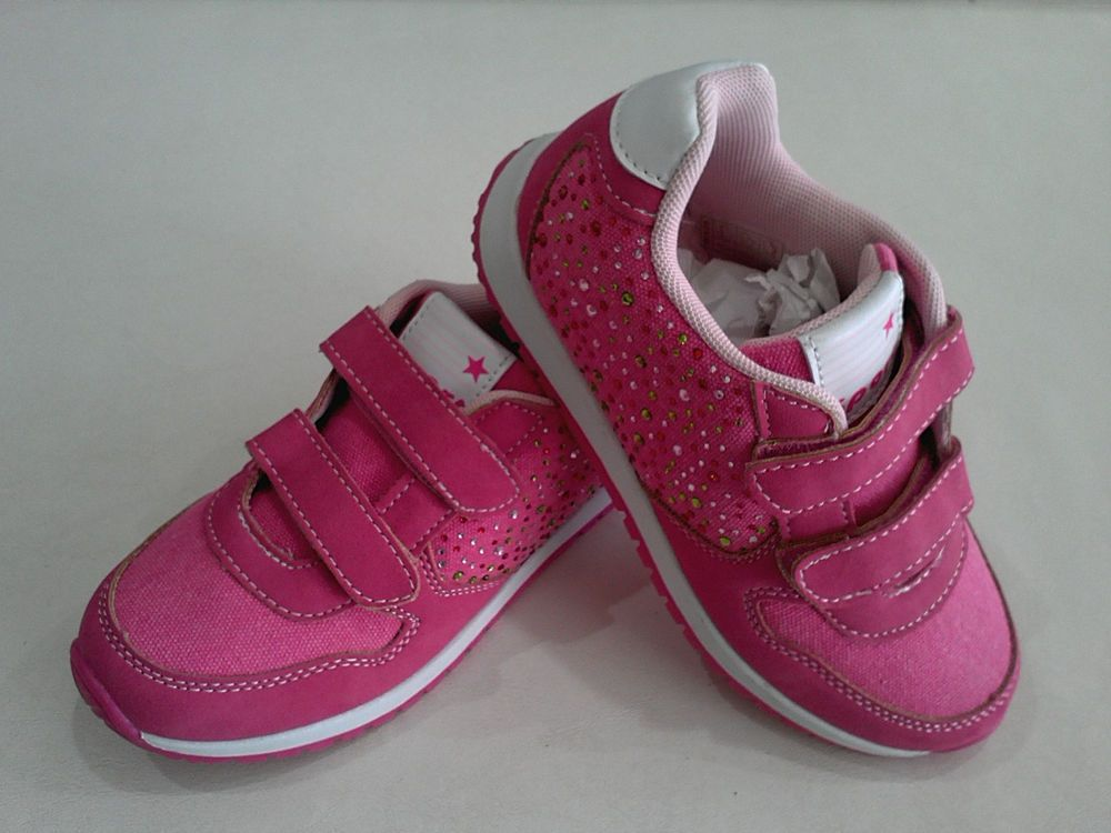 Giardino D oro Girls Sports Shoes Low eBay Price Pink Fuxia Velcro Sneakers   GiardinoDoro  CasualShoes 8929caaec
