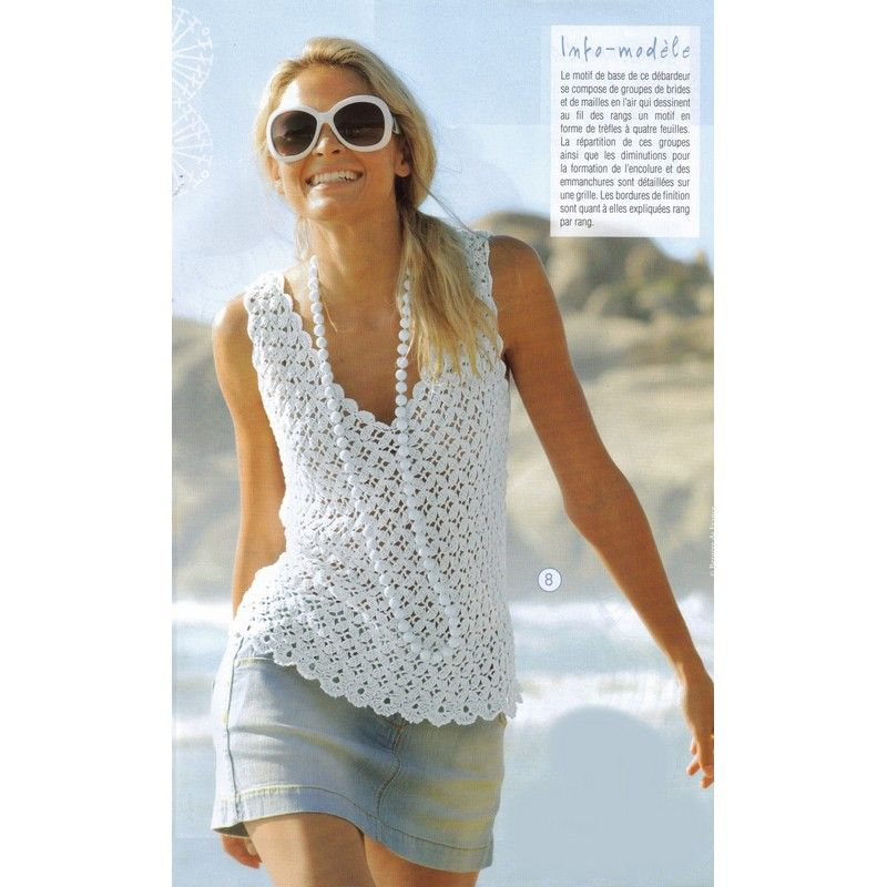 Excelente Free Knitting Patterns For Cotton Summer Tops Molde ...