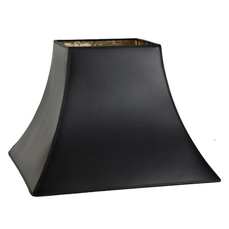 16 Black Paper Gold Lining Square Bell Lamp Shade Antique Lamp