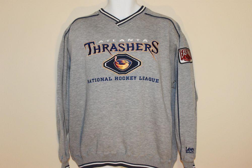 1777e33605df Lee Sport Vintage Atlanta Thrashers Sweatshirt Size Large Crew Neck Sweater  NHL  LeeSport  AtlantaThrashers