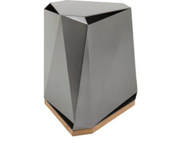 The Steven Volpe Coburg Faceted Side Table is modern in design and material, and provides a strong counterpoint to the other pieces of The Steven Volpe Collection.