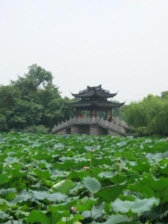 Bridge in Xihu, Hangzhou.