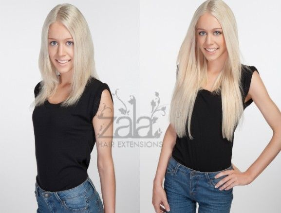 Before and after zala platinum blonde 60 model is wearing 20 before and after zala platinum blonde 60 model is wearing 20 inch 220gr 9 clip in hair extensionsplatinum pmusecretfo Images