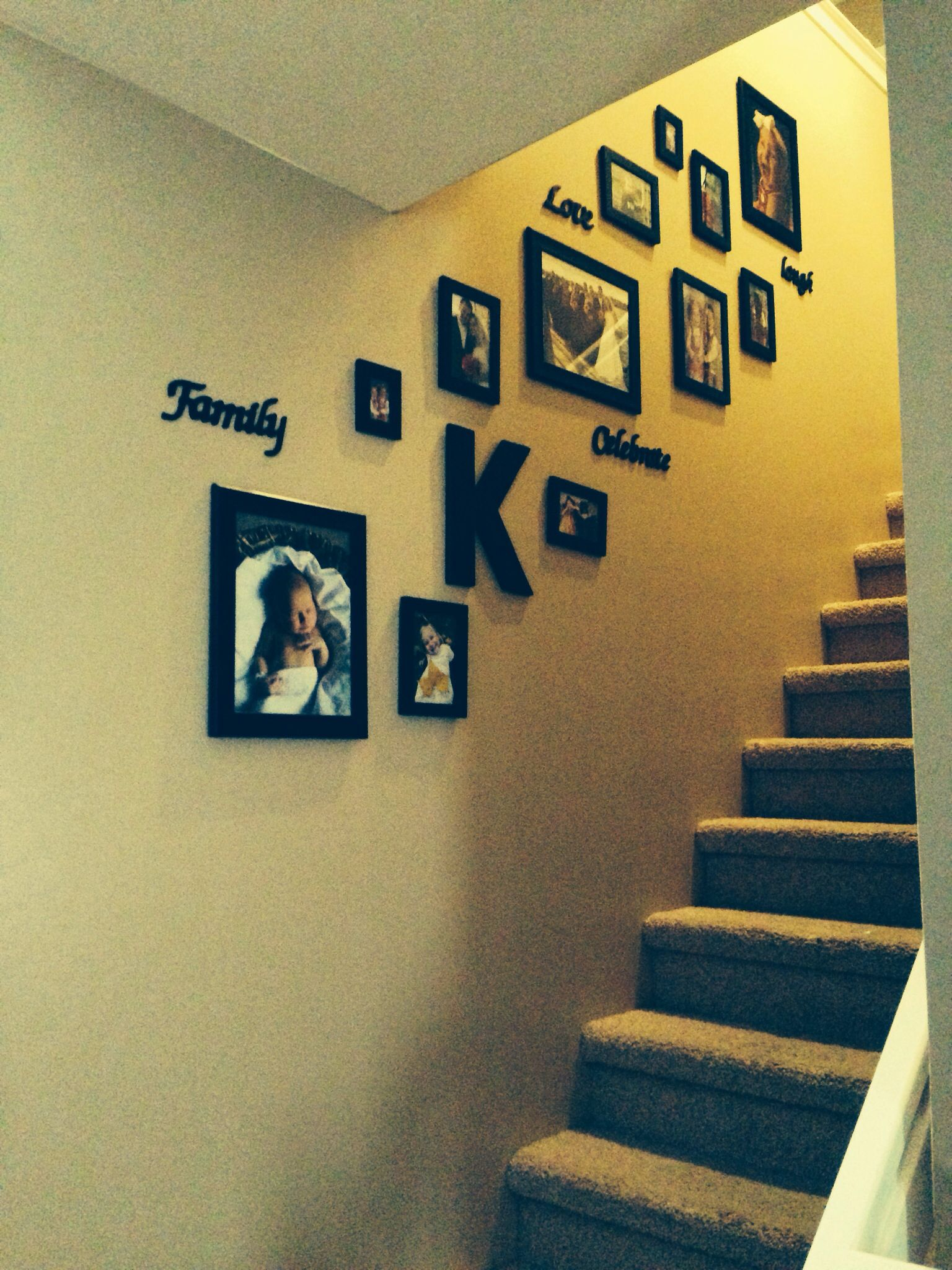 Stairway Collage Wall HOME DECOR Pinterest