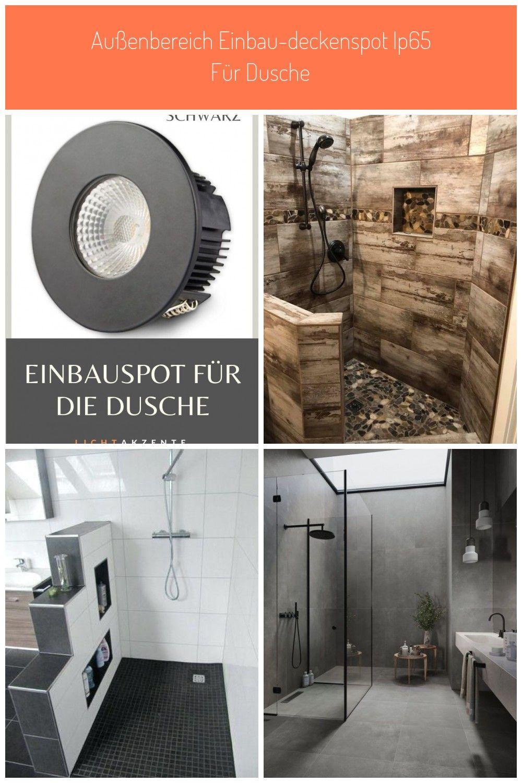 Moderner Decken Einbauspot Fur Badezimmer Dusche Oder Beleuchtung Fur Terrasse Runde Einbauleuchte In Schwarz Und Wechselba In 2020 Moderne Decken Dusche Badezimmer