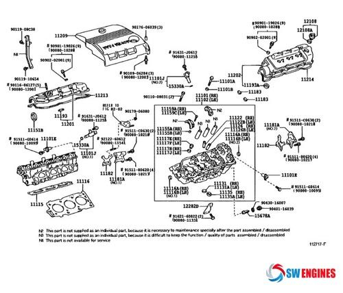 toyota camry exploded engine diagram swengines