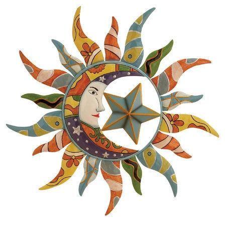Sun moon star wall art   Art   Pinterest   Star wall, Moon and Star