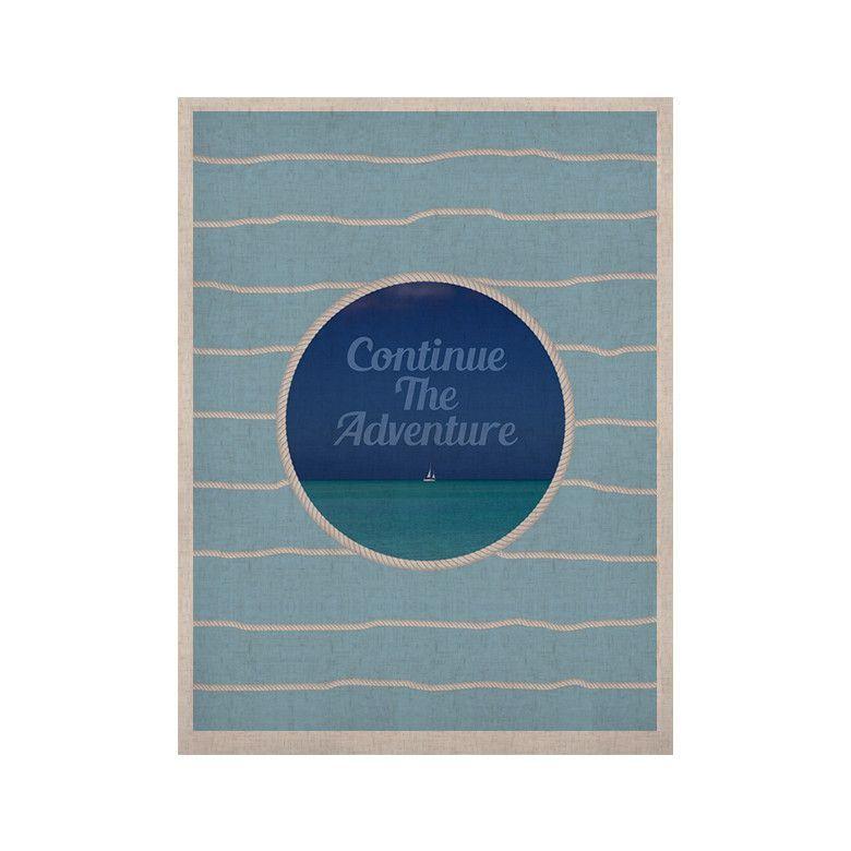 "Deepti Munshaw ""Continue The Adventure"" Blue Aqua KESS Naturals Canvas (Frame not Included)"