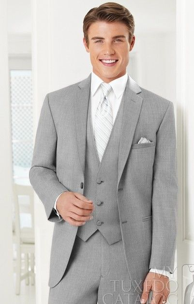 Nice light grey suit.x | Men's Clothing/Attire | Pinterest ...