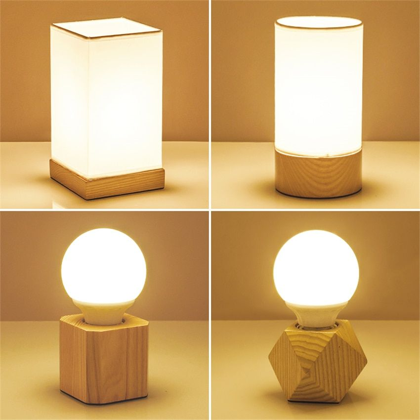 12 4 Modern Table Lamp Table Lamp Wood Bedside Lamp
