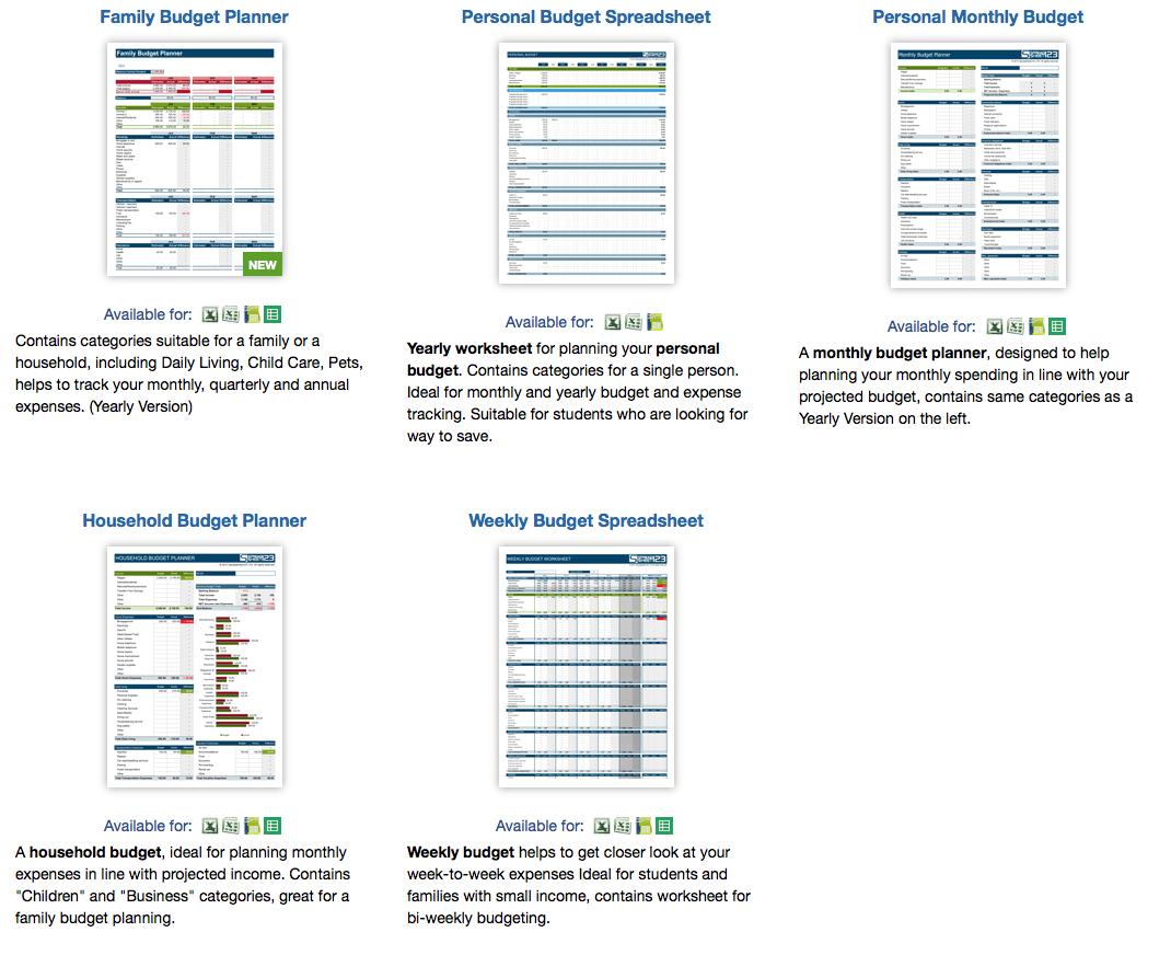 Best Budget Worksheets