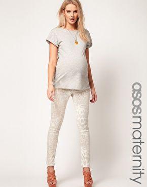 86b721a03831 Enlarge ASOS Maternity Skinny Jean In Faded Leopard
