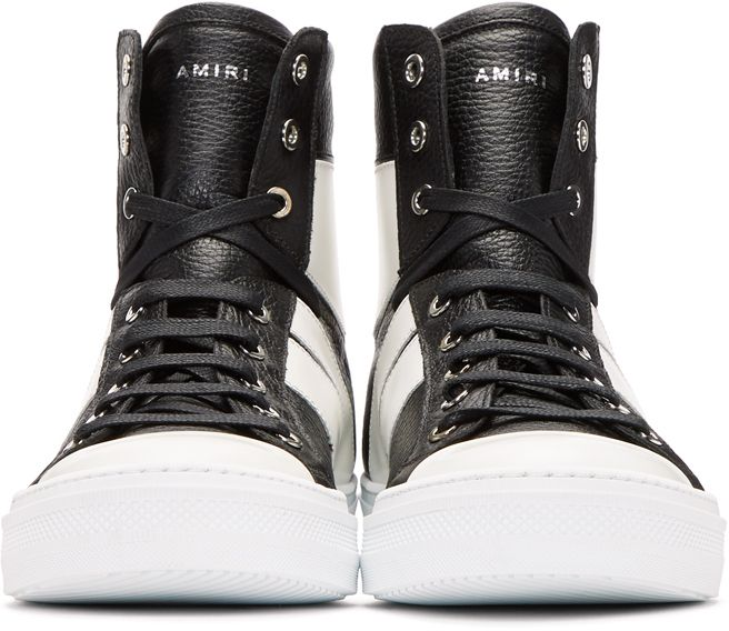 Amiri Black & White Sunset High-Top Sneakers