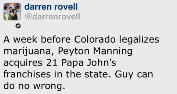 Peyton Manning = genius