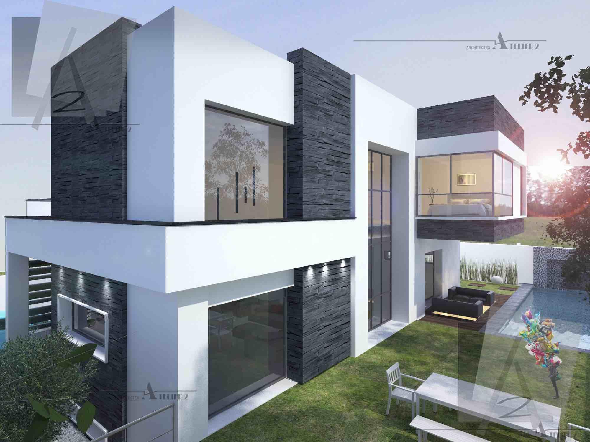 Resultat De Recherche D Images Pour Villa Minimaliste Facade