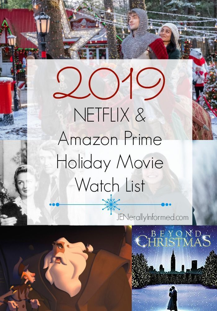 The 2019 NETFLIX & Amazon Prime Holiday Movie Watch List