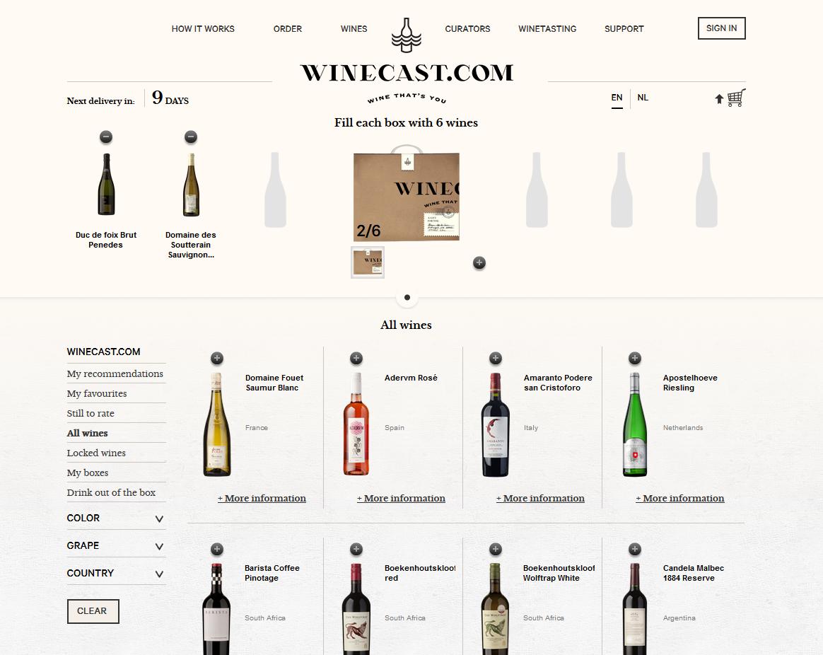 #UI #UX #shopcart #cart basket www.winecast.com
