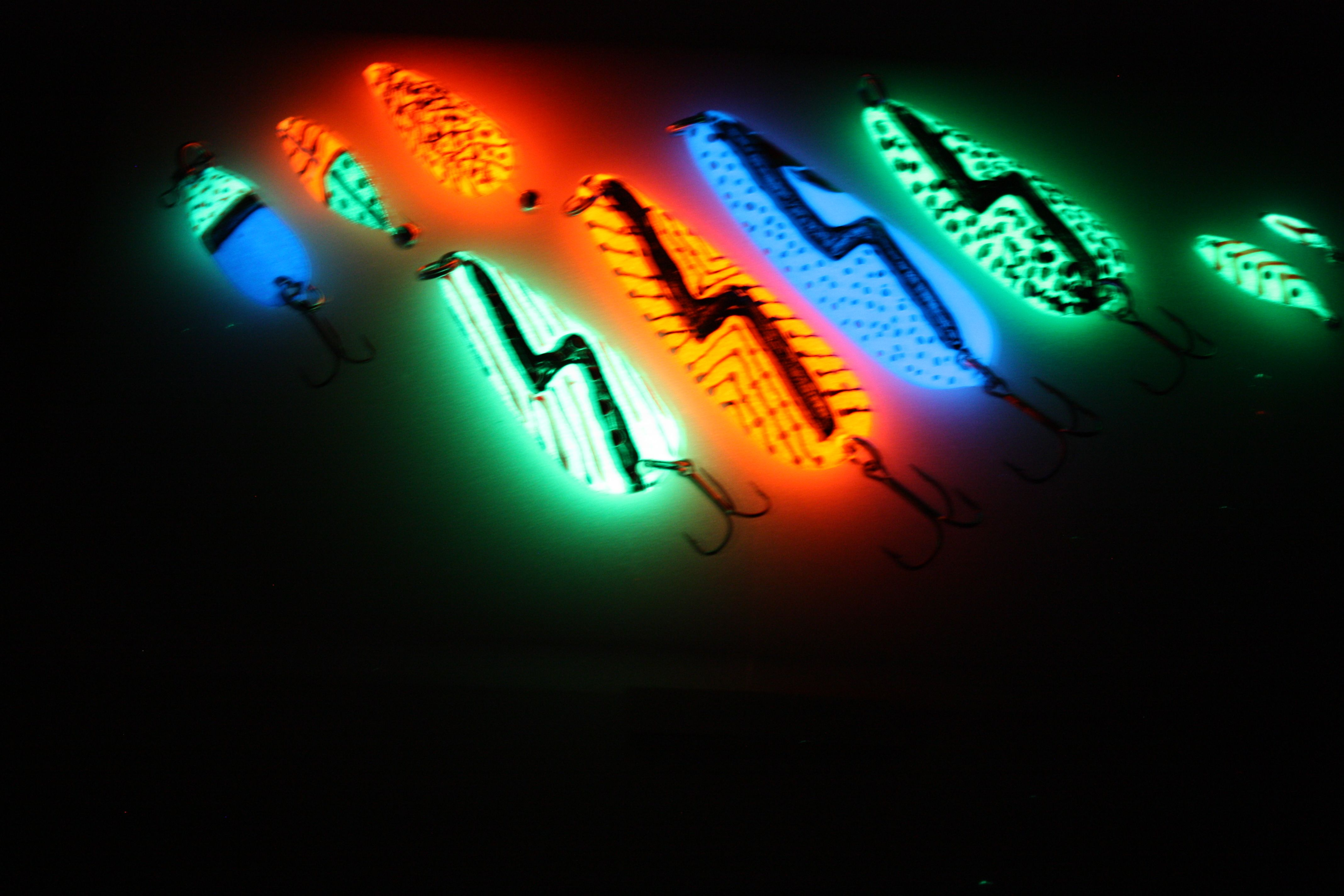Here Are A Few Of Our Super Glow Lures!