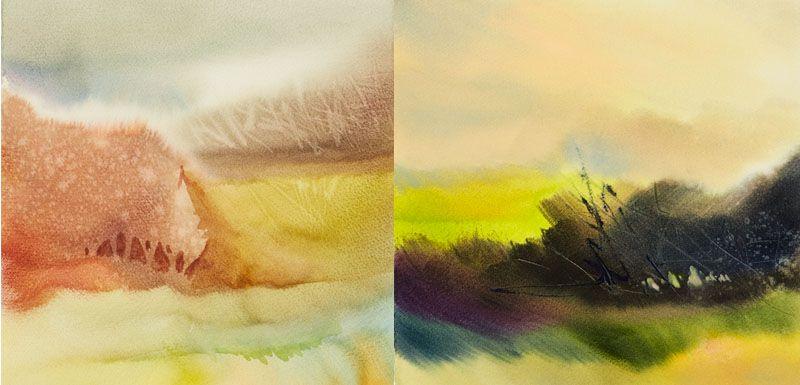 Negative painting techniques watercolor landscapes