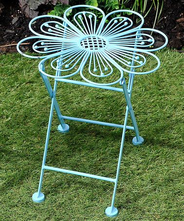 Another great find on #zulily! Blue Flower Garden Side Table/Plant Stand #zulilyfinds
