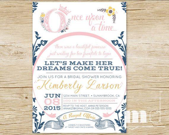 fairytale bridal shower invitation fairytale by mulligandesign