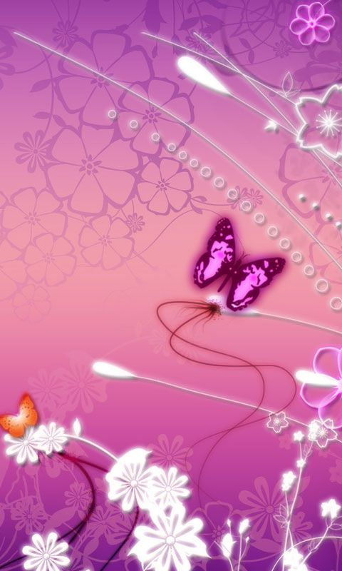 Purple Butterfly Background Butterfly Purple Mobile Phone
