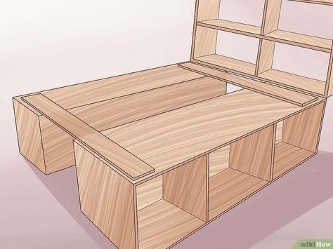 construire un cadre de lit en bois d co chambre pinterest cadres de lit en bois cadres de. Black Bedroom Furniture Sets. Home Design Ideas