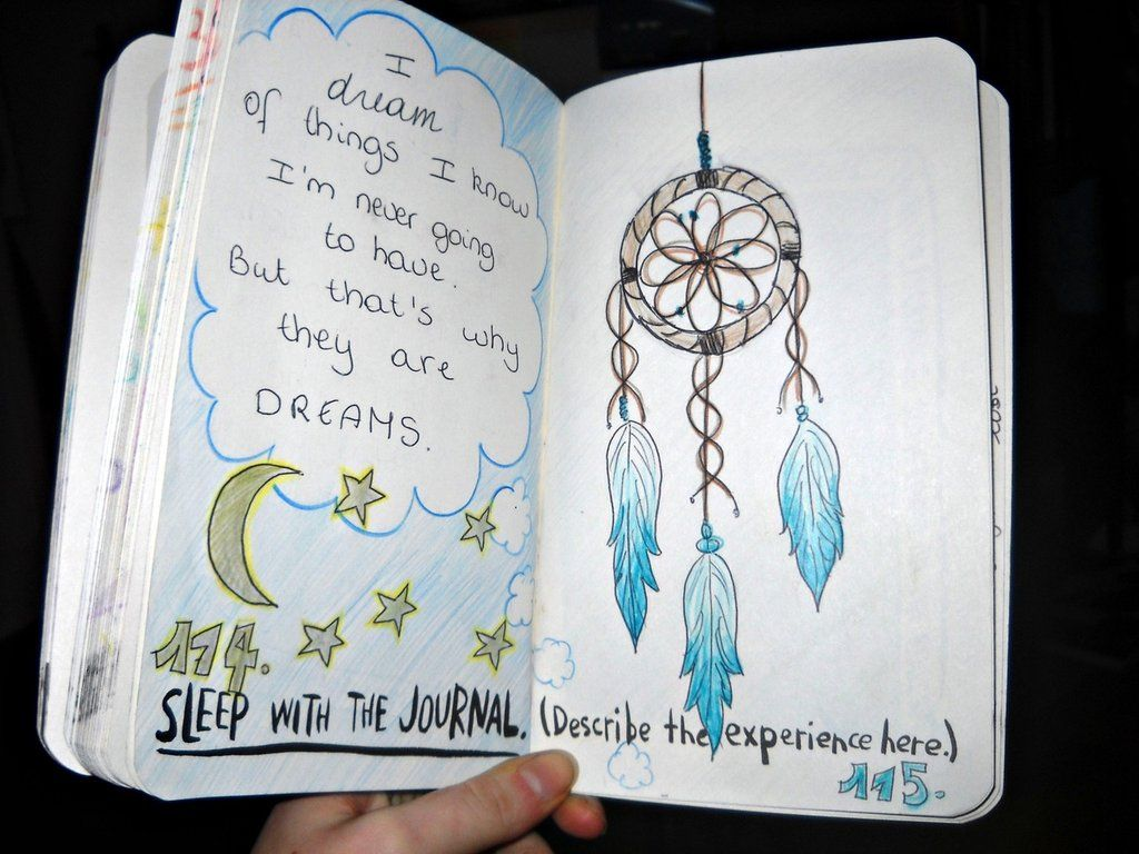 Wreck This Journal - Sleep with the Journal (and describe your experience here)