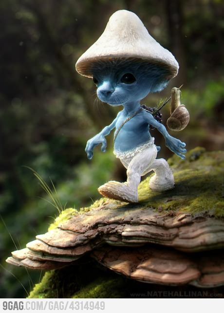 Real Smurfs would be creepy and adorable
