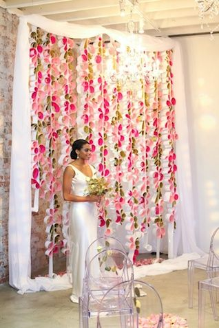 Event Recap Think Pink Wedding Ceremony Backdroparch