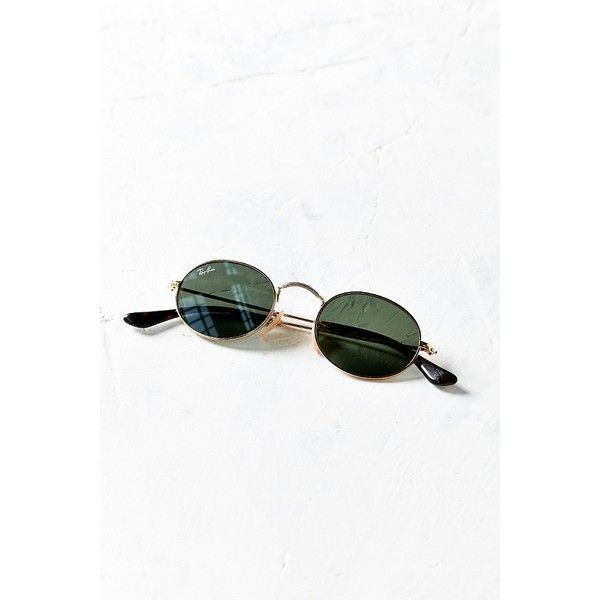 4dc53c53706 Ray-Ban Icon Oval Flat Lens Sunglasses ( 150) ❤ liked on Polyvore featuring  jewelry