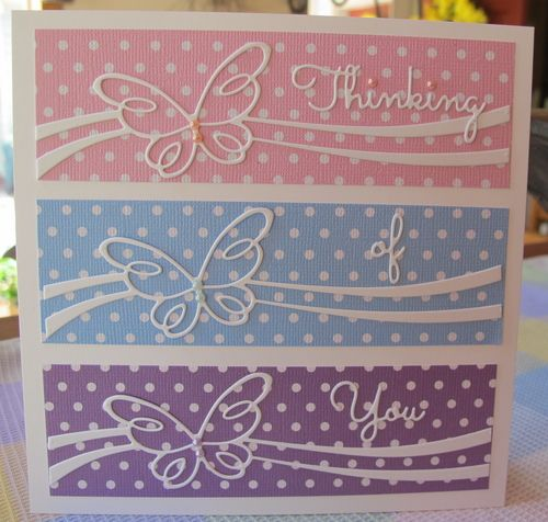 Item #7908 · Heart Prints.  MB Bellina butterfly ribbon and IO words
