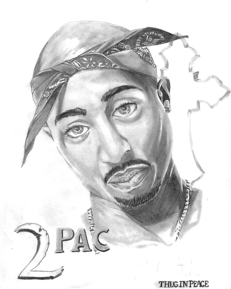 Sketch Of 2pac Sweatshirts Big Eyes Coloring Books