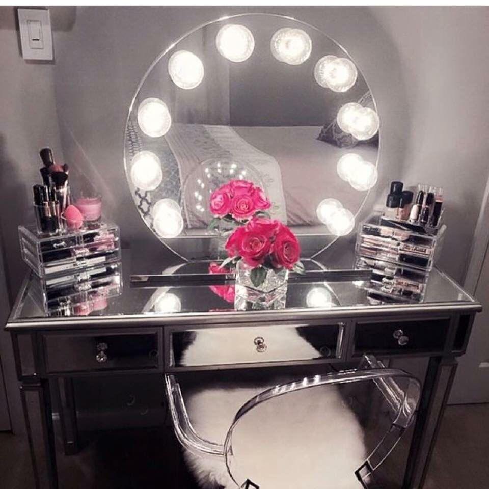 Trendy Vanity Mirrored Vanity Table Room Decor Home Decor