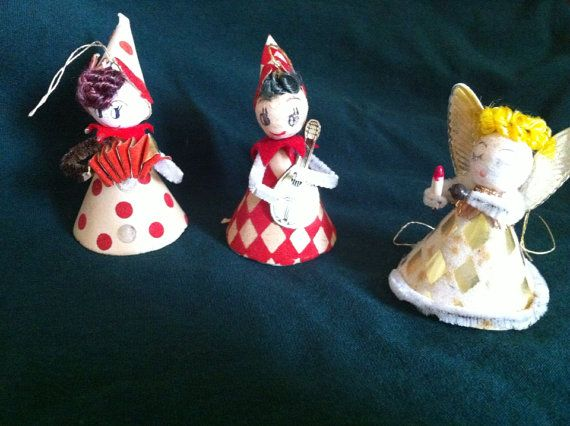 Midcentury made in Japan Christmas ornaments