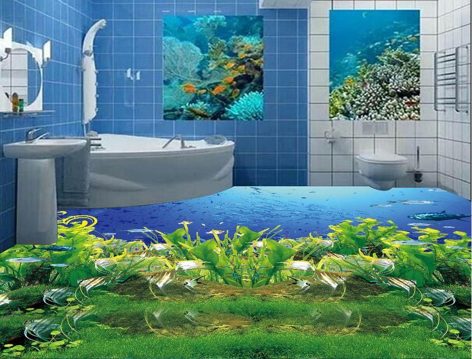 Benutzerdefinierte bodenbelag schlafzimmer Tropischen pflanzen - wandbild für wohnzimmer