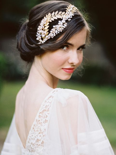 Bohemian Wedding Headpiece Aphrodite Available in silver and