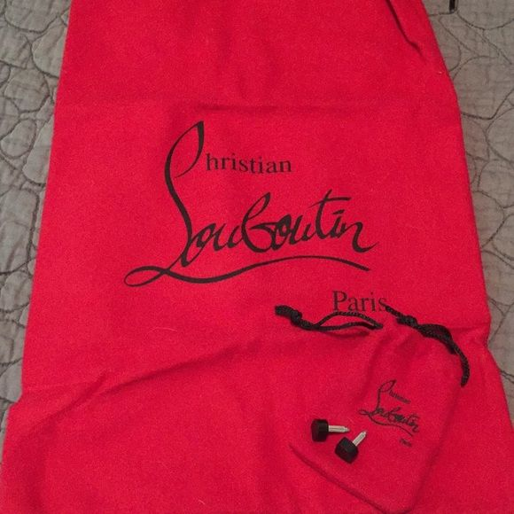Authentic Christian Louboutin Dust Bag & Caps Brand new CL
