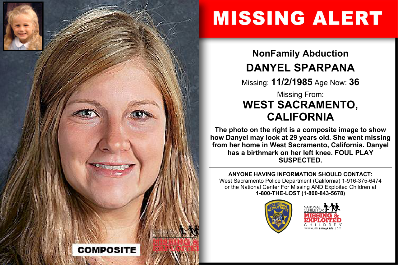 California - DANYEL SPARPANA - Missing Kids | People we need