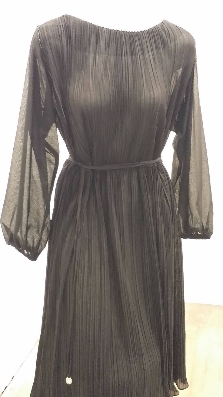 Vintage Hal Ferman Dress Gossamer Dress 70s Black Dress Etsy Retro Black Dress Black Sheer Dress Pleated Dress [ 1308 x 736 Pixel ]
