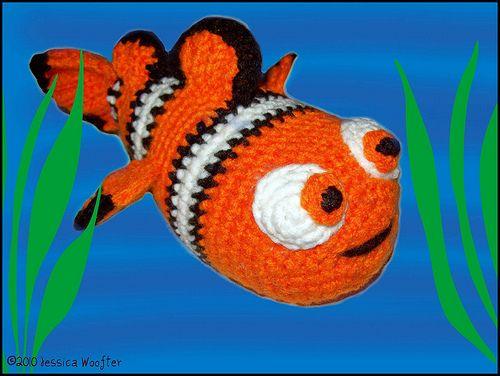 Amigurumi Fish Tutorial : Clown fish crochet free pattern tutorial amigurumi