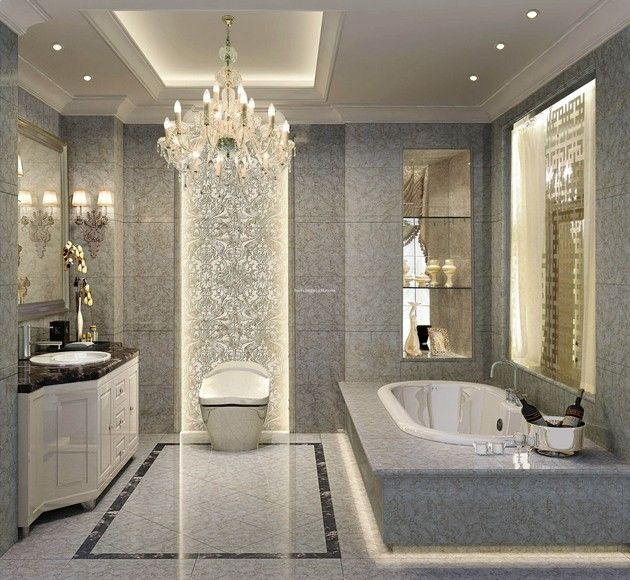 Pin By Inspirant Decor On Bathrooms Modern Luxury Bathroom Bathroom Design Luxury Elegant Bathroom