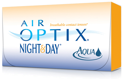 AIR OPTIX® NIGHT & DAY® AQUA Contact Lenses Day for