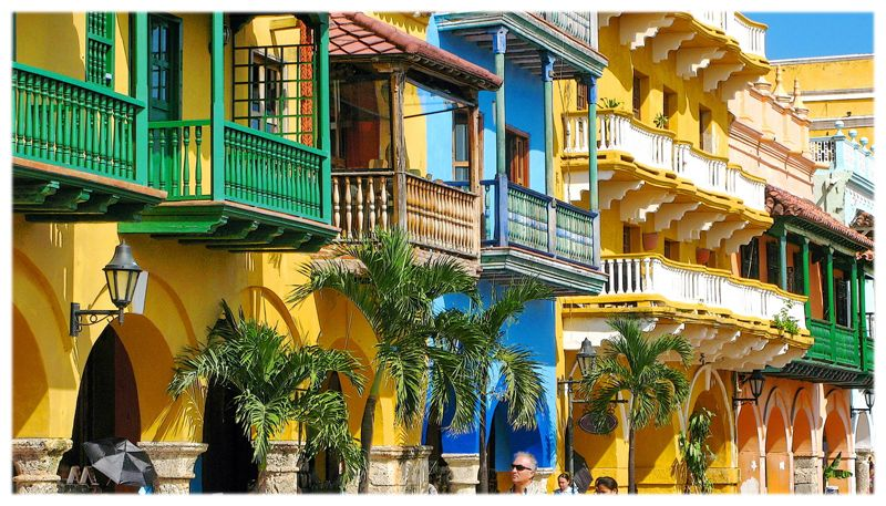 016 Fachadas en Cartagena de Indias, Colombia Cartagena