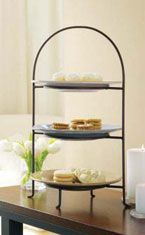 3-Tier Bronze Iron Classic Plate Stand - turn your regular dinner plates into an & 3-Tier Bronze Iron Classic Plate Stand - turn your regular dinner ...