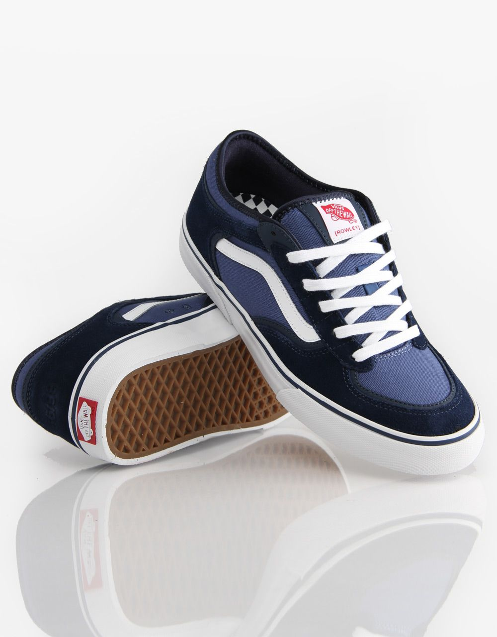 c8954a218a Vans Rowley Pro Skate Shoes - Navy White - RouteOne.co.uk