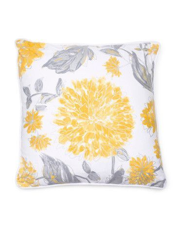 NICOLE MILLER Metallic Floral Duck Fill Throw Pillow Products Custom Nicole Miller Decorative Pillows